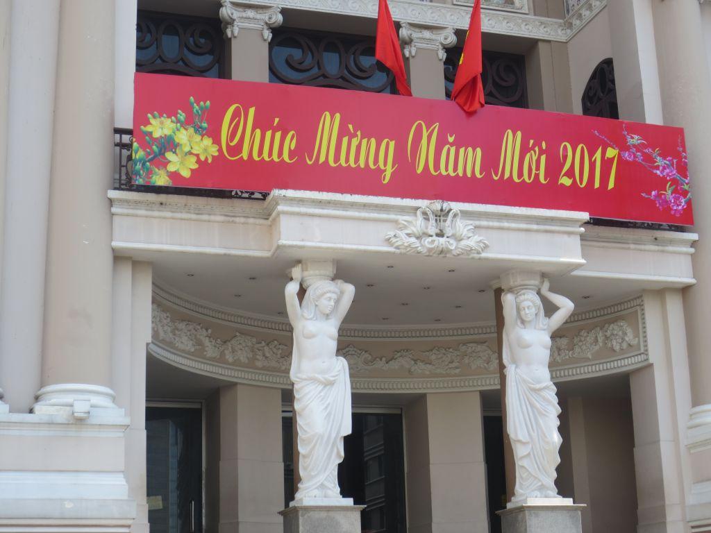 Saigon Opera House Chuc Mung Nam Moi