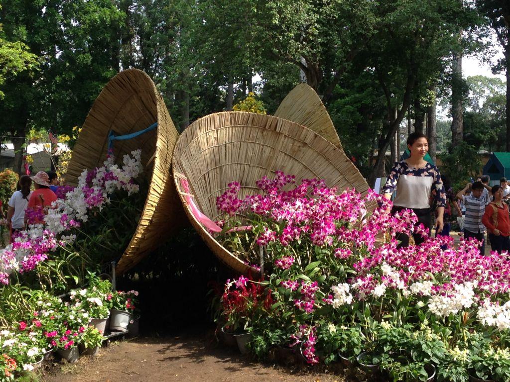 Flower display, Tao Dan Park in HCMC