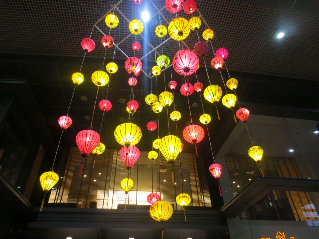 Lanterns at Saigon Pearl for Tet Nguyen Dan 2017