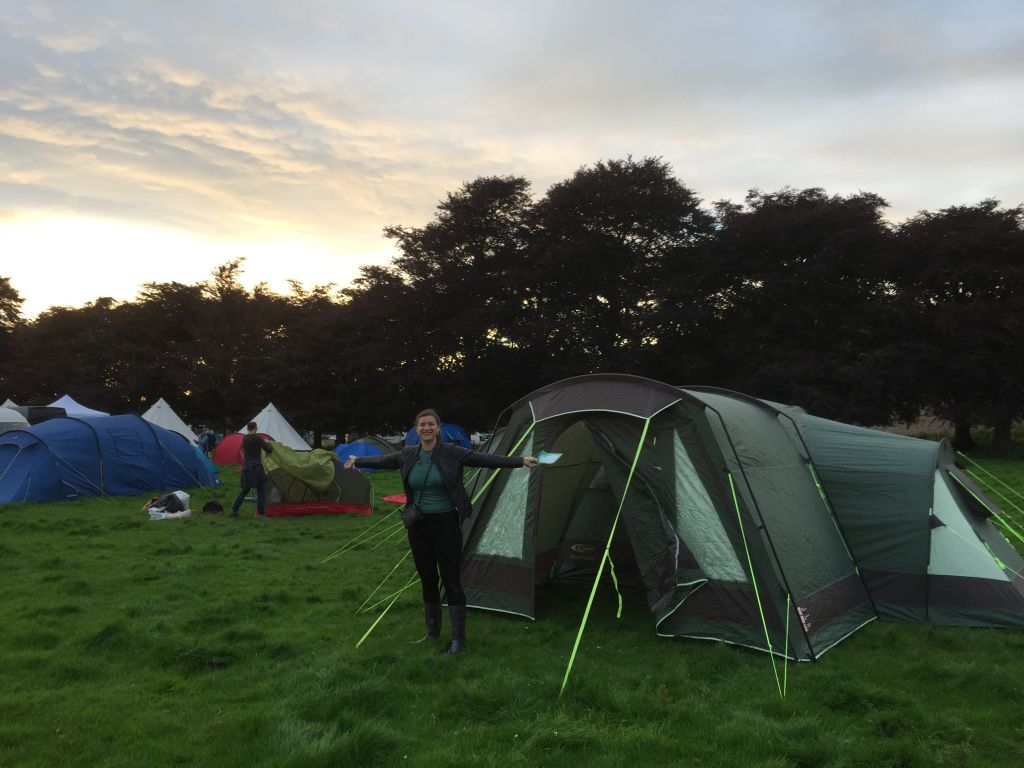 Claire cameron camping at Kendal Calling Festival 2017