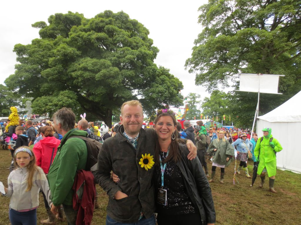 Ben aka Robinson Boone and Claire Cameron at #IntoTheWild parade Kendal Calling 2017