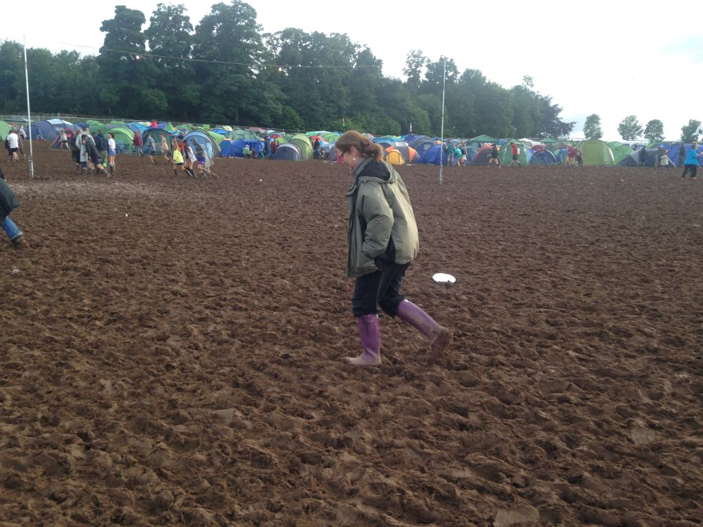 muddy fields at Kendal Calling