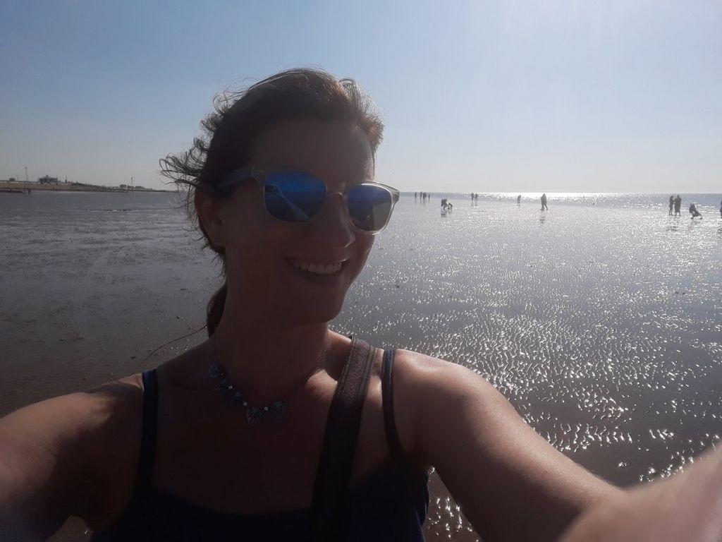 Claire Cameron on Hunstanton Beach